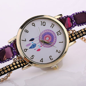 Large Strap Big Dial Women Watch, Native Ethnic Style Fashion Women Wristwatch,