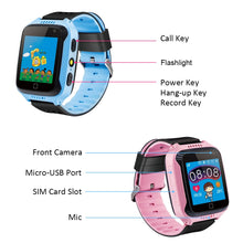 "Load image into Gallery viewer, 1.44"" TFT Touch Screen GPS Calls SOS Alarm Suitable for iOS Android Smartphones"