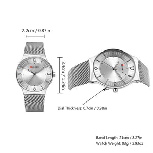 Business Men Watches Ultra-thin Quartz Male Wristwatches Clock Relogio Masculino