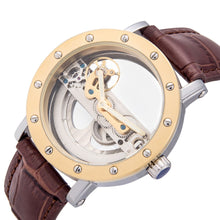 Load image into Gallery viewer, Mechanical Genuine Leather Men Watches Automatic Luminous  Relogio Musculino