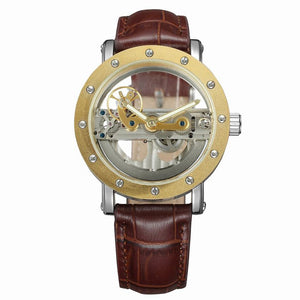 Mechanical Genuine Leather Men Watches Automatic Luminous  Relogio Musculino