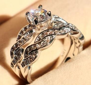 New set of rings wedding ring set men and women couple ring jewelry