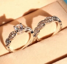 Load image into Gallery viewer, New set of rings wedding ring set men and women couple ring jewelry