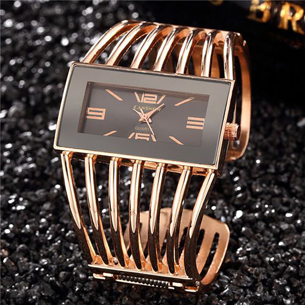 Women Watch, Brand Luxury Bangle Wrist Watch Fashion Rose Gold Bracelet Women