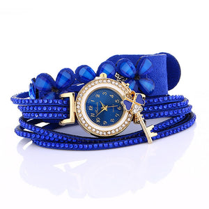 Women Watches, New Luxury Casual Analog Alloy Quartz Watch PU Leather Braceles,