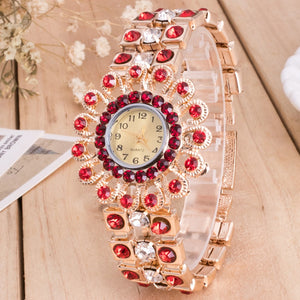 Women's Watch, Vintage Classic Bracelet Watches, Luxury Crystal Rhinestone