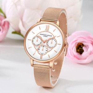 Luxury Rose Gold Women Watches Full Steel Women's Wrist Watch Fashion Watches