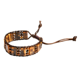 Simple Fashion Bracelet Bead Leather Woven Bracelet Hand Strap for Women Girls (18ky0923)