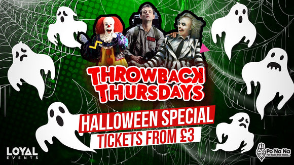 Throwback Thursdays - Halloween Fright Night Special - 31st October