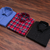 Pack of 3 - Red Check, Black Print, Light Blue Solid Shirts (US-Combo 4)