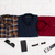 Pack of 3 - Brown Check, Blue Print, Maroon Solid Shirts (US-Combo 2)