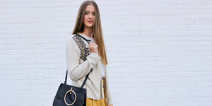 Vintage Black Handbag, Sustainable Fashion, Ethical Fashion