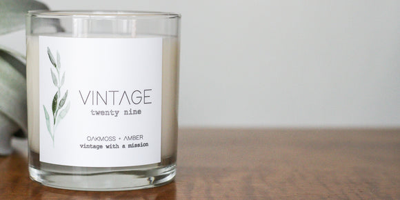 Minimalist candle, Proceeds benefit non-profits, ethically sourced