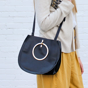 Black and Gold Leather Purse