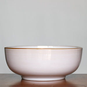 Vintage Modern White Thomas O'Brien Serving Bowl