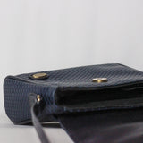 Crazy Horse Navy Side Purse
