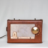 Philco Radio in Leather Case