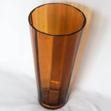 Large Amber Glass Blown Vase