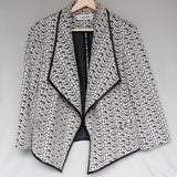 Calvin Klein Black and White blazer
