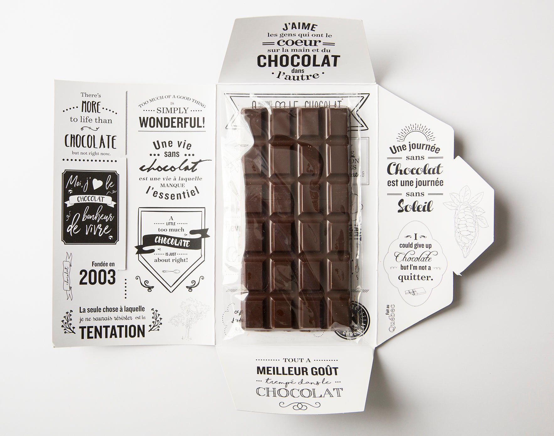 chocolate bars  for Juliette & Chocolat