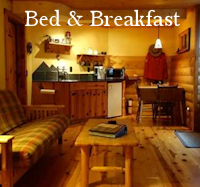 Bed & Breakfast Menu Button - Accommodations Canmore - Drop Down