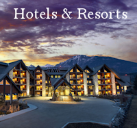 Hotels & Resorts Menu Button - Accommodations Canmore