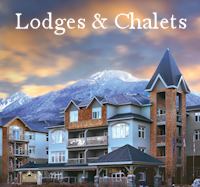 Lodges & Chalets Menu Button - Accommodations Canmore - Drop Down