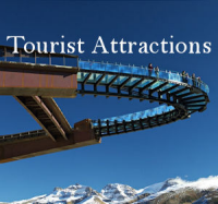 Tourist Attractions Menu Button - Entertainment Sightseeing