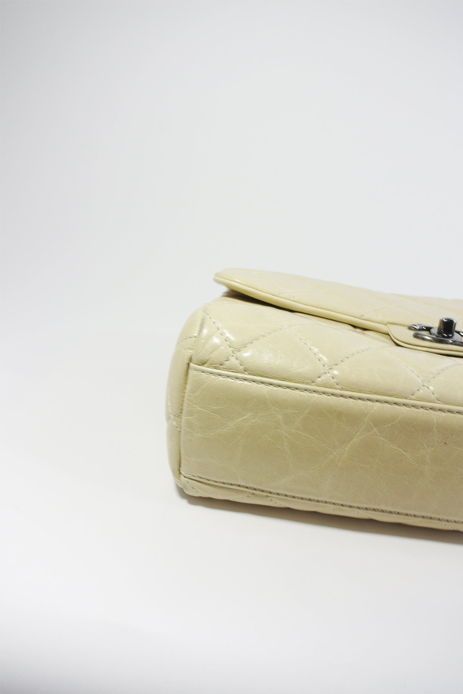 Chanel Beige Quilted Single Flap Bag