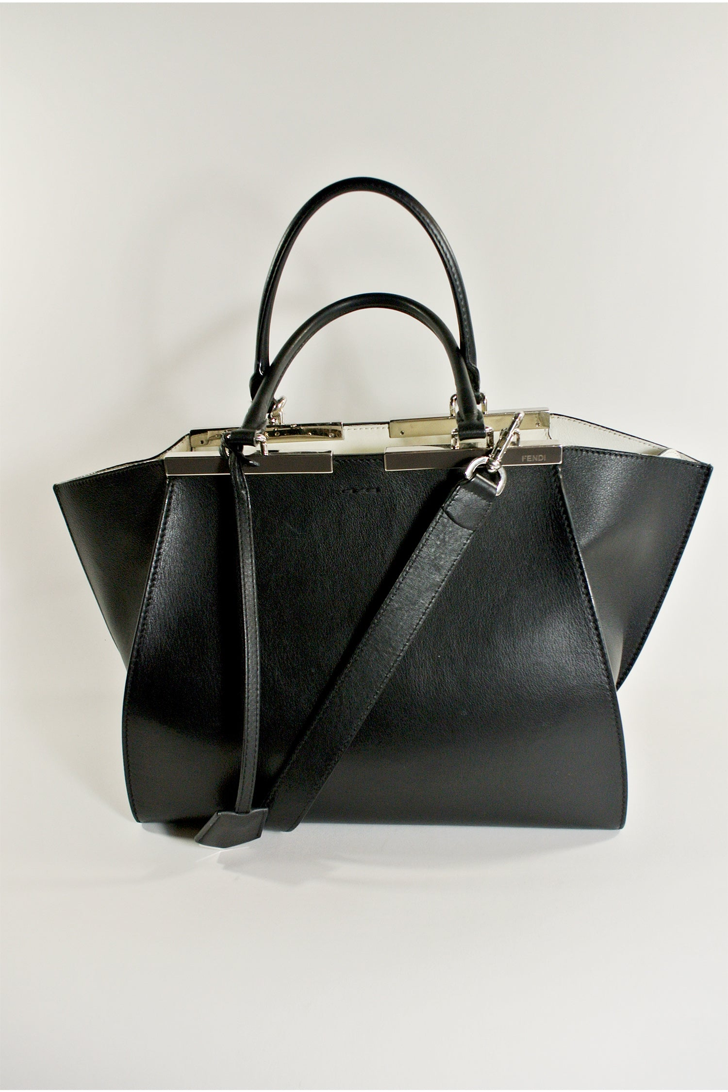 Fendi Leather 3Jours Tote Black