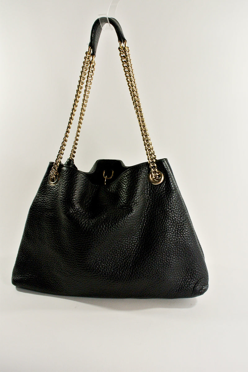 1e70454510e Gucci Black Soho Chain Shoulder Bag – curatedandconscious