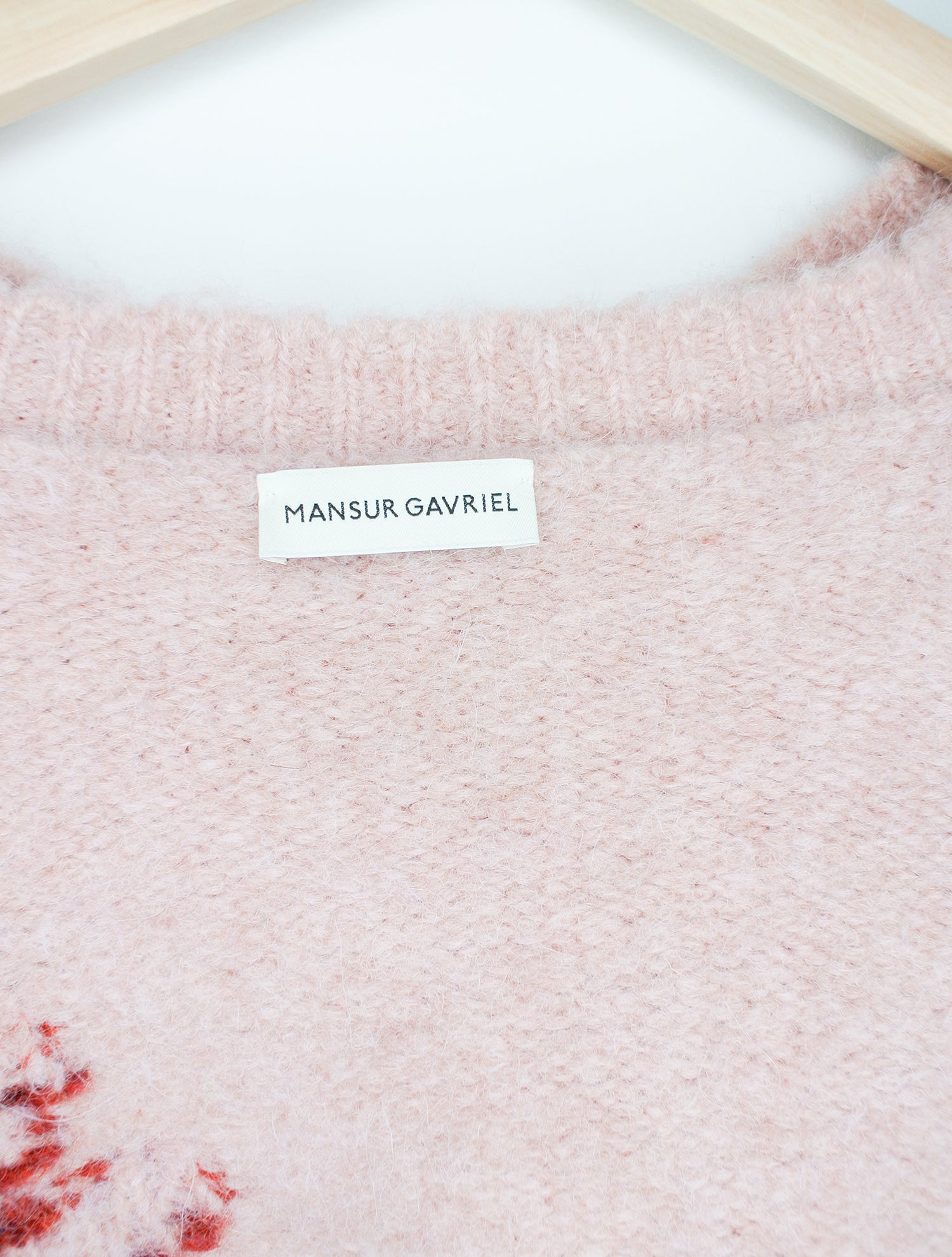 Mansur Gavriel Floral Wool-Blend Oversized Sweater Sz S
