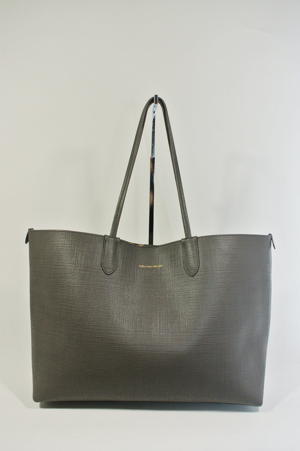 Alexander McQueen Grey Leather Tote
