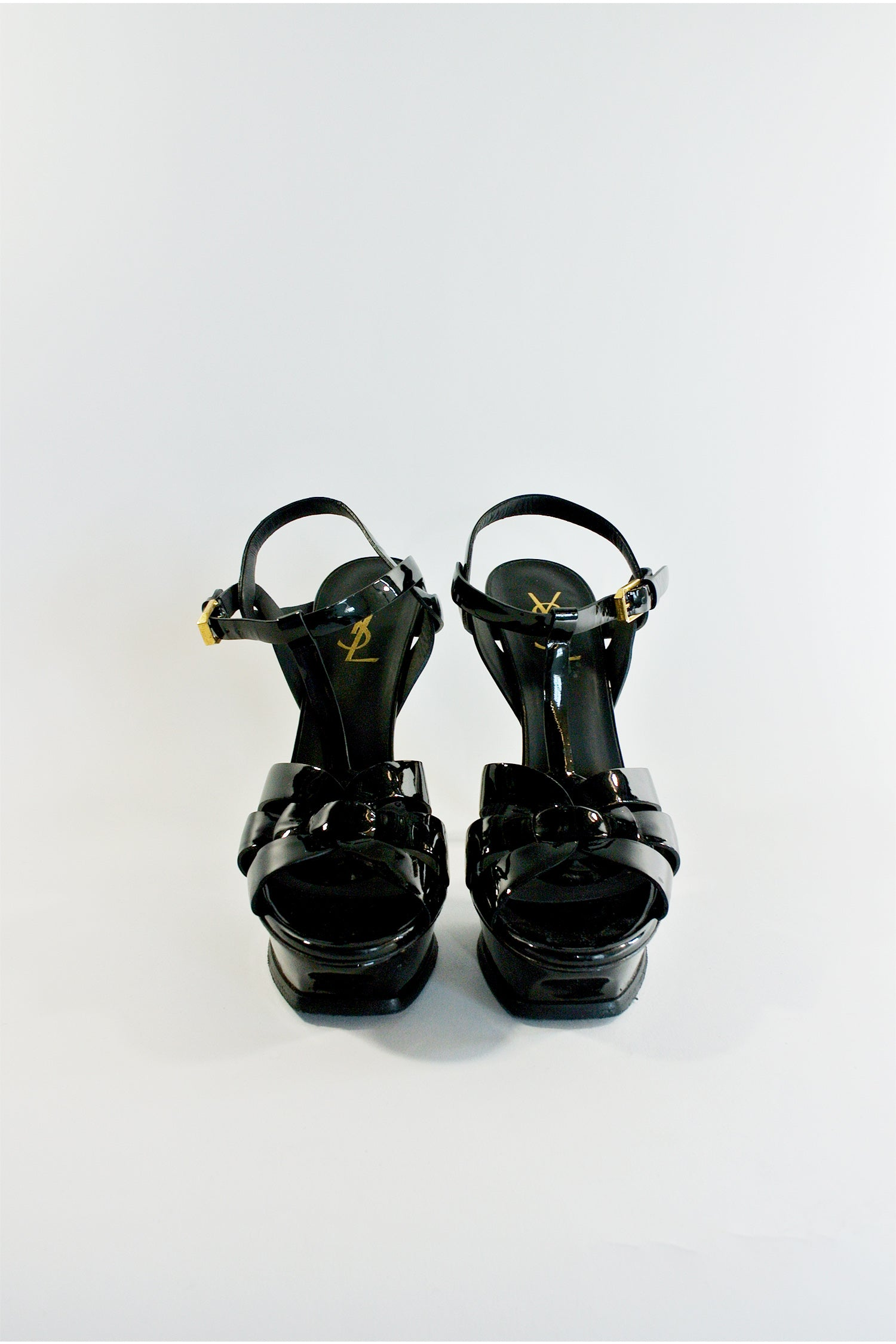 Yves Saint Laurent Black Tribute Sandals Sz 38