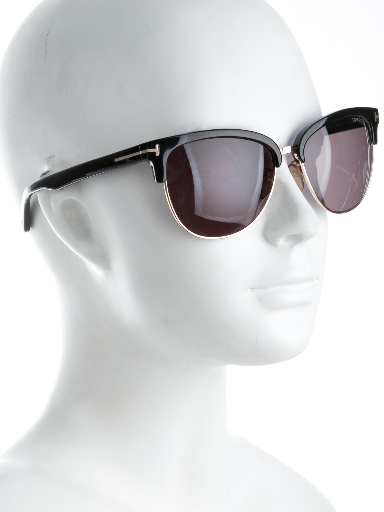 Tom Ford Black Fany Clubmaster Sunglasses