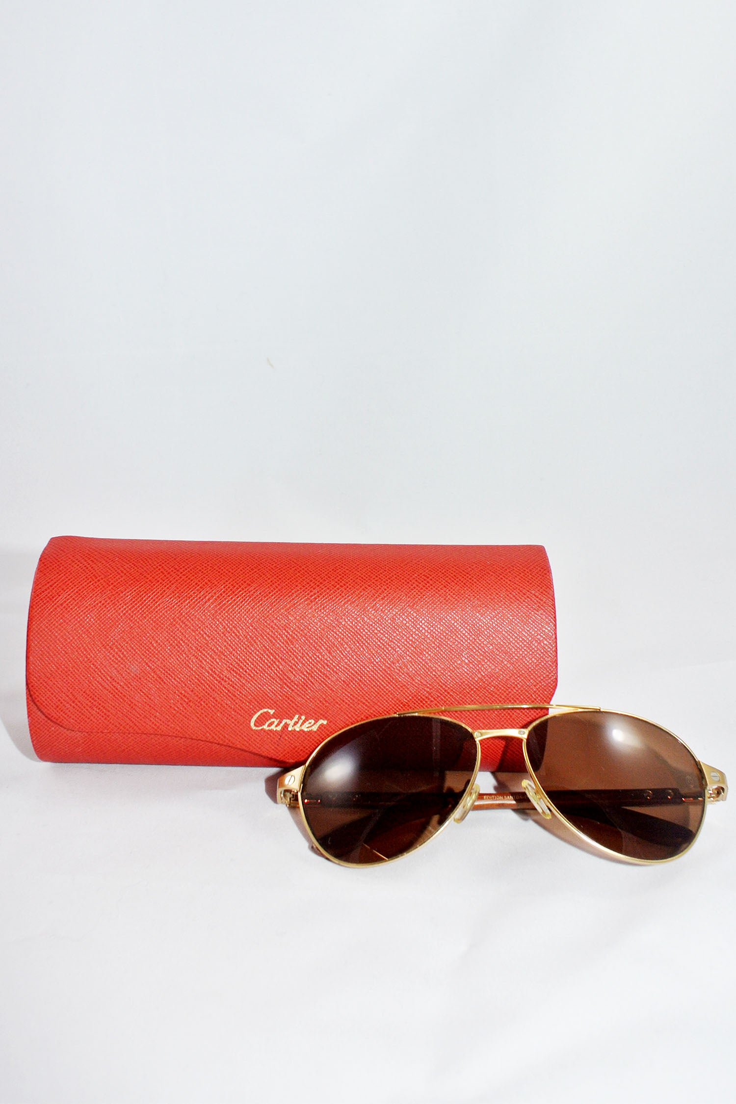 Cartier Santos-Dumont Gold Love Sunglasses