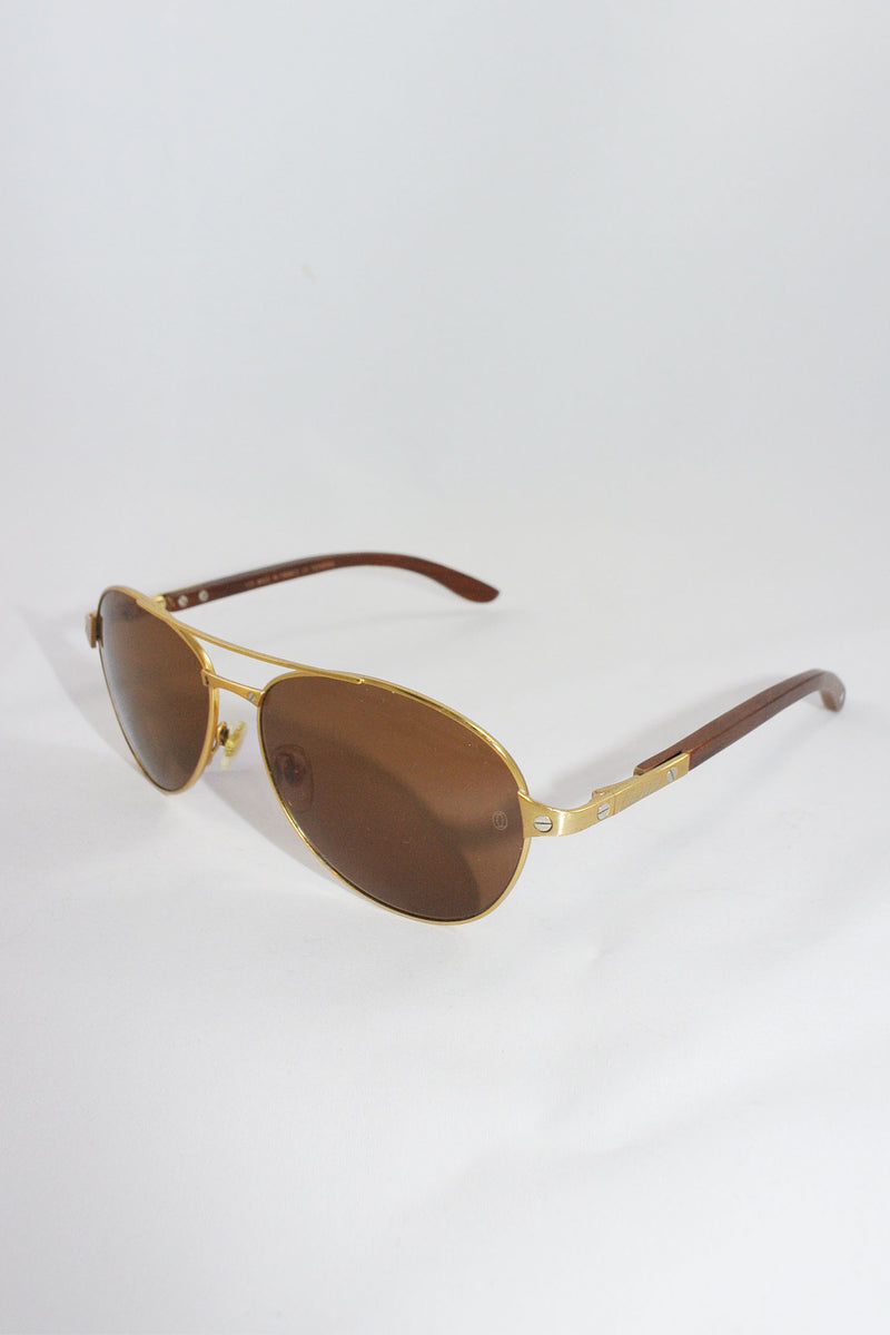 be58c156dbd Cartier Santos-Dumont Gold Love Sunglasses – curatedandconscious