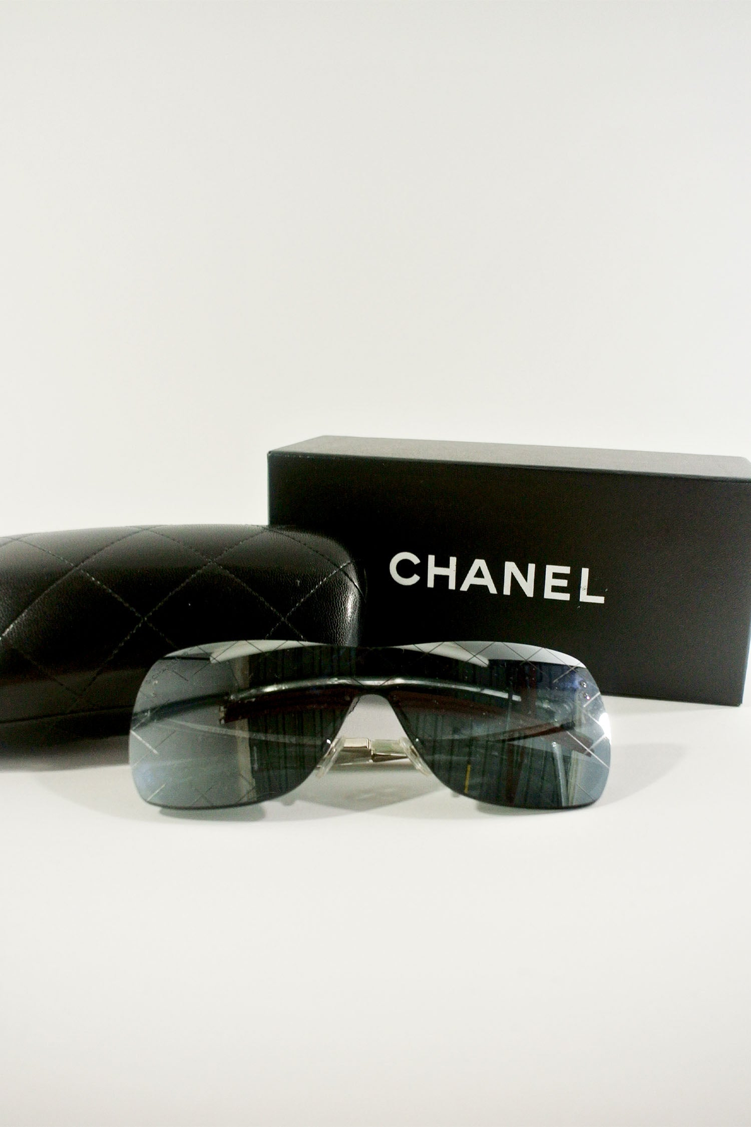Chanel Shield Quilted Sunglasses