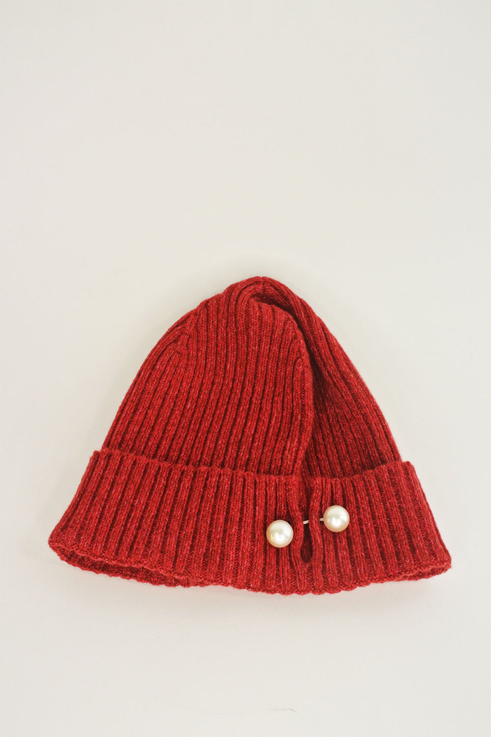 a0bc9f03440 Chanel Cashmere Red Pearl Toque (New With Tags) – curatedandconscious