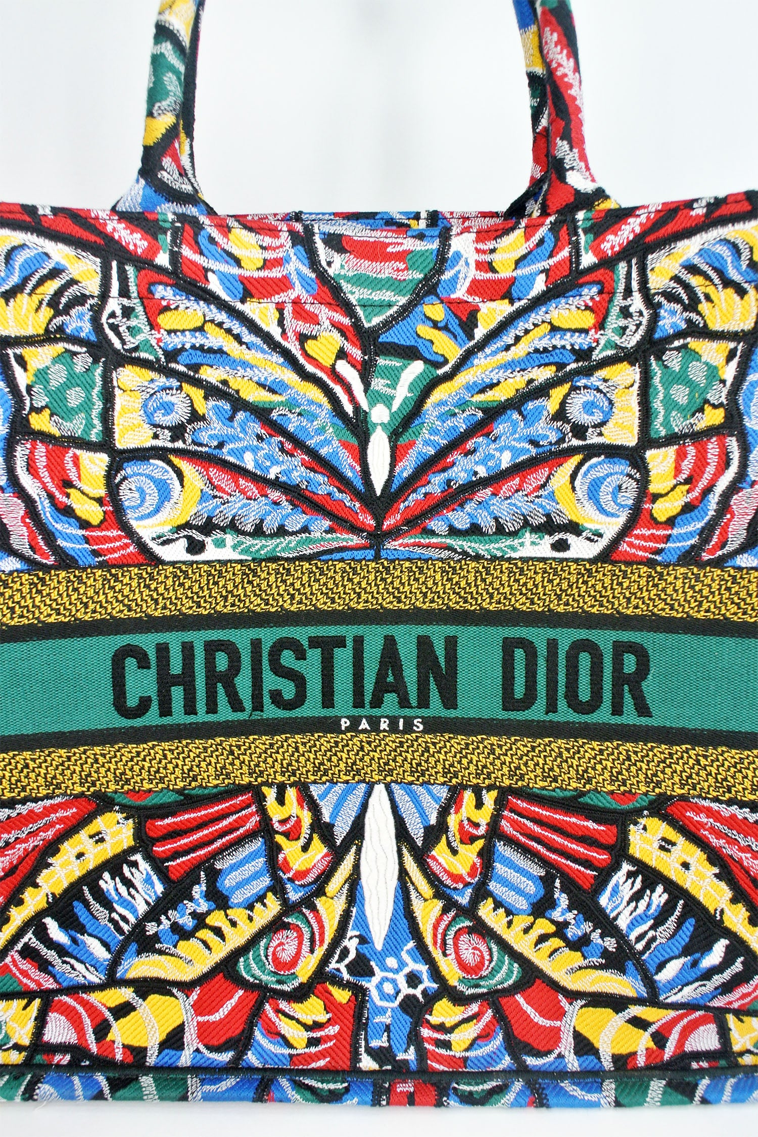 Christian Dior 'Book Tote' Embroidered Butterfly Limited Edition