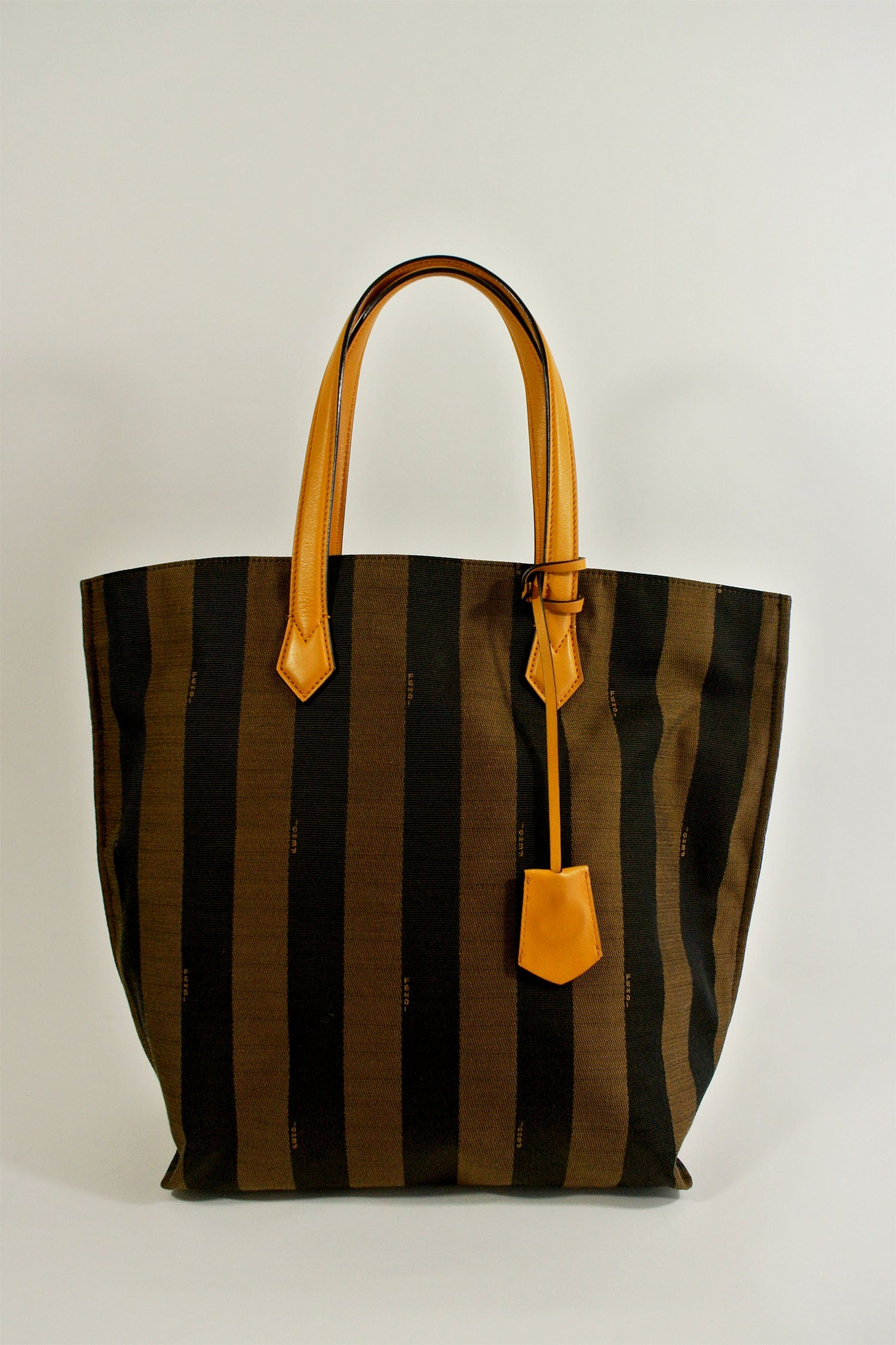 Fendi Pequin Striped Shopping Tote
