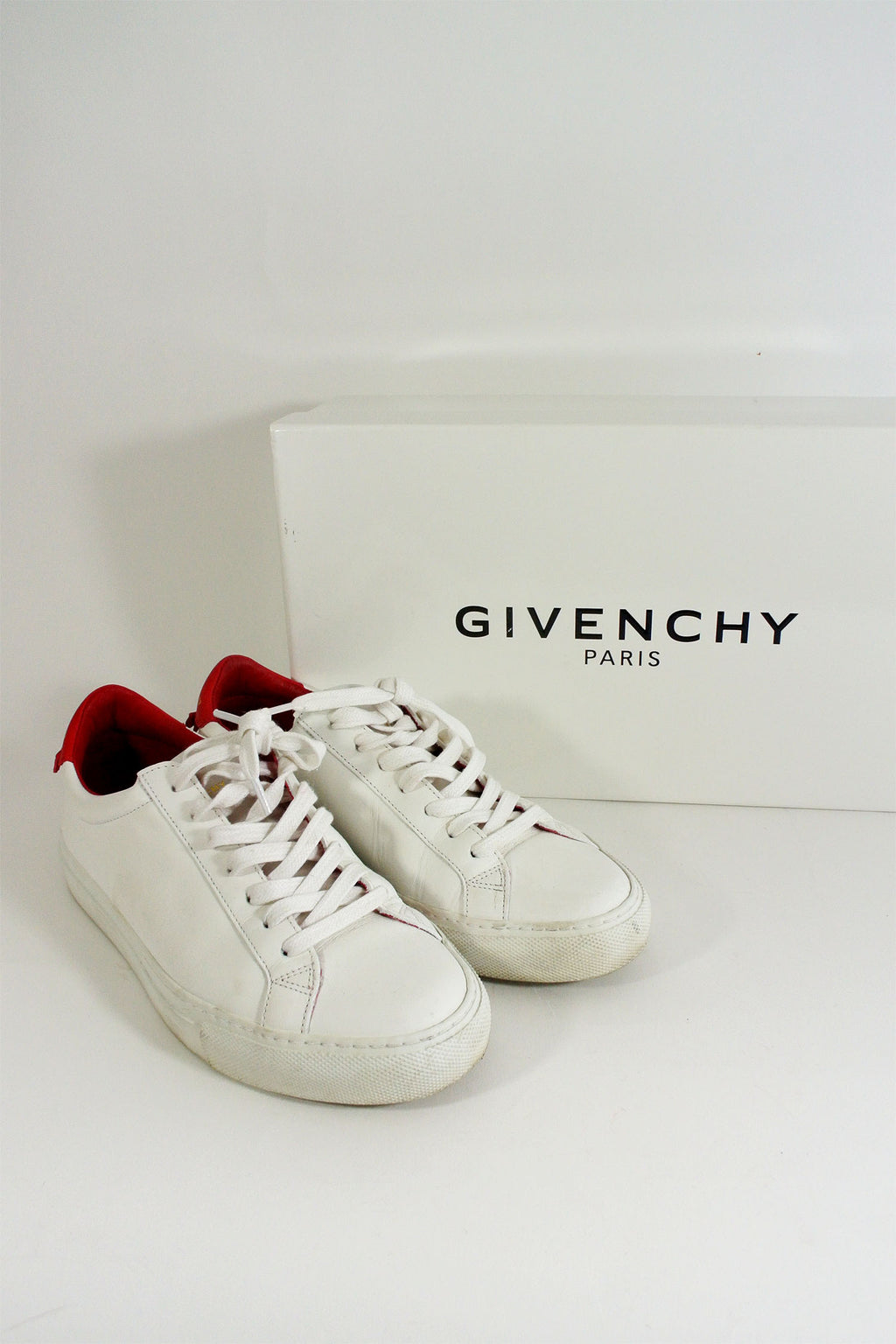 Givenchy 2017 Urban Street Knots White & Red Sneakers sz 37