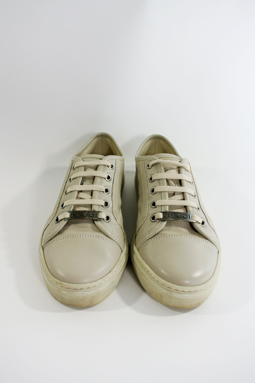 Gucci Taupe Leather Sneaker sz 36.5