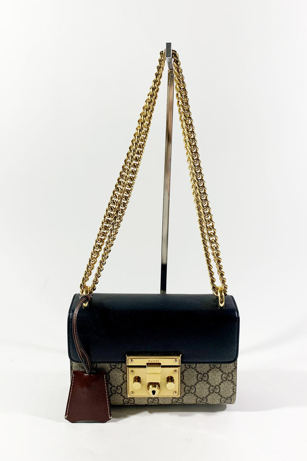 Gucci GG Supreme Small Padlock Shoulder Bag