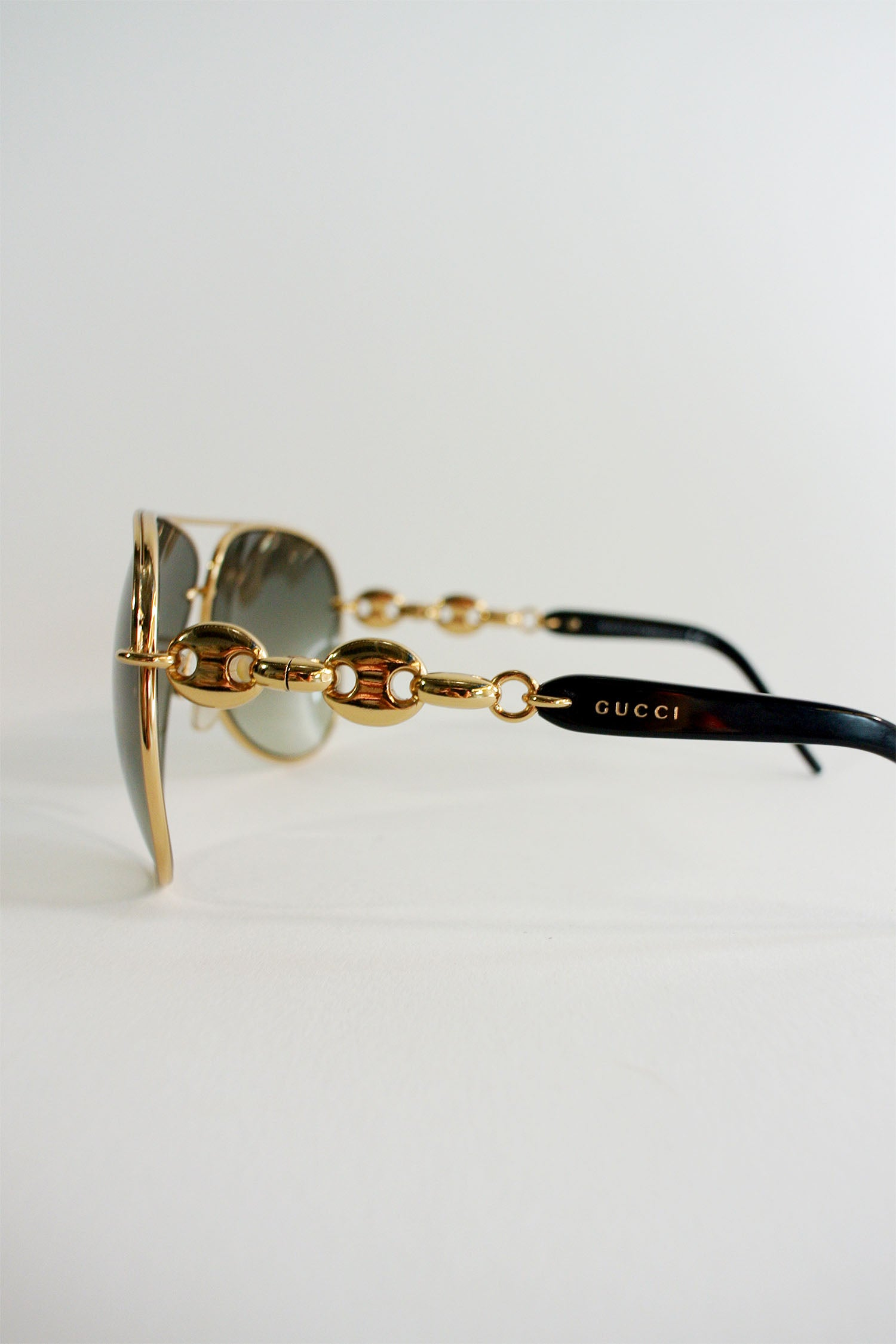 Gucci Gold Chain Link Aviators