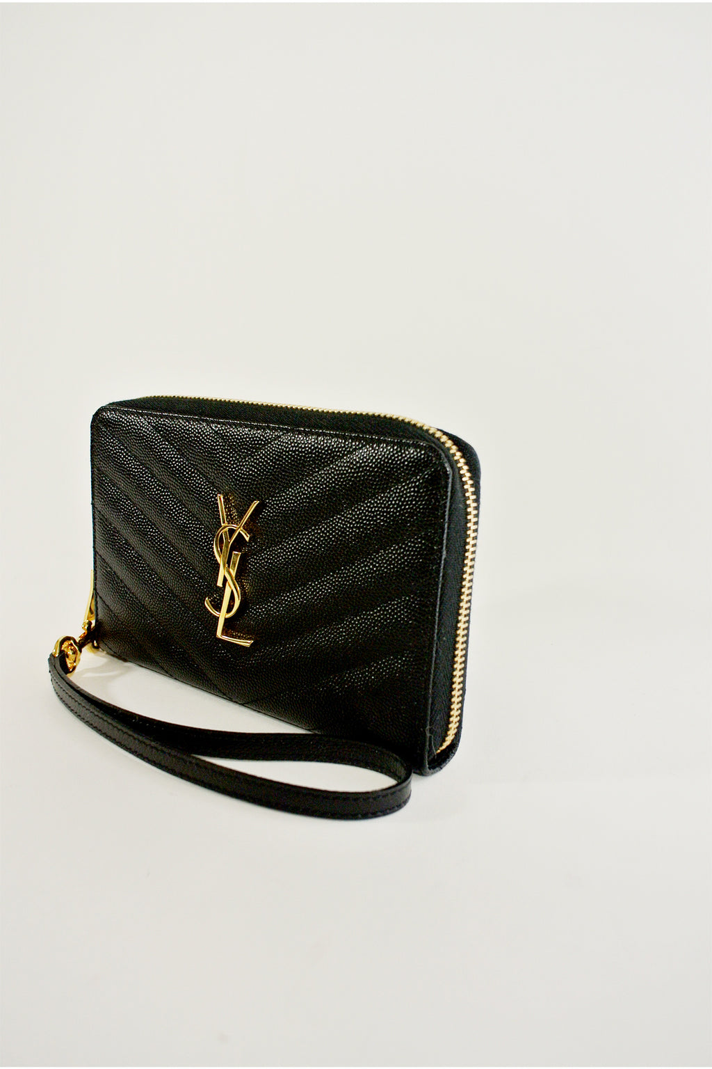 Saint Laurent Black Kate Wristlet