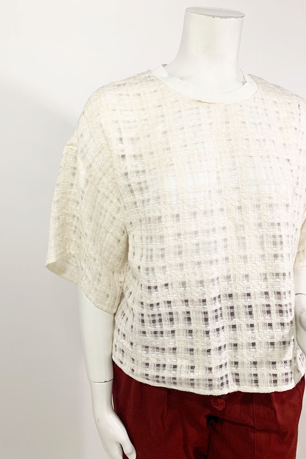 3.1 Phillip Lim Boxy Tweed Top Sz 4
