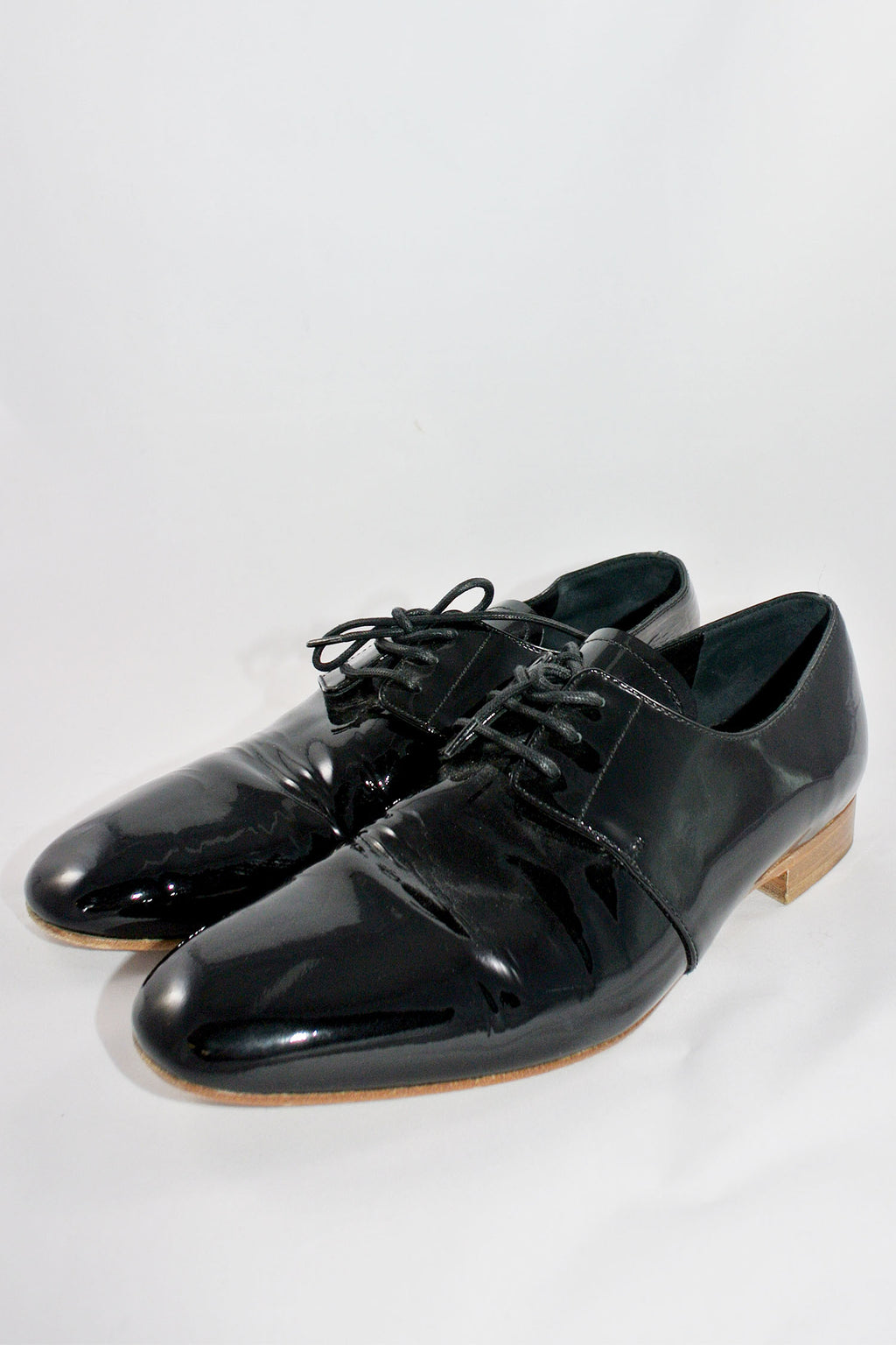 Prada Black Patent Loafers Sz 38