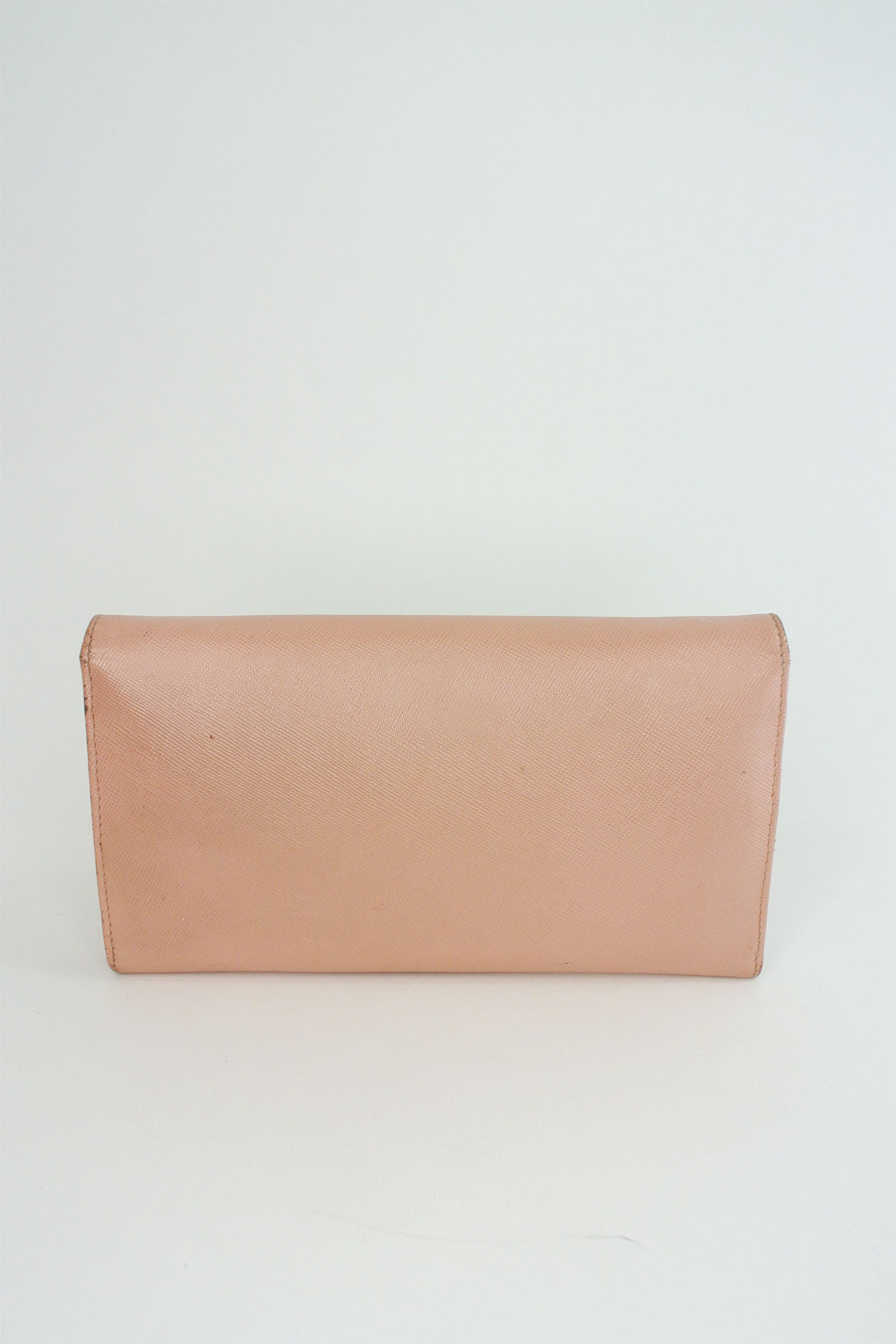 Prada Pink Saffiano Metal Oro Wallet on Chain
