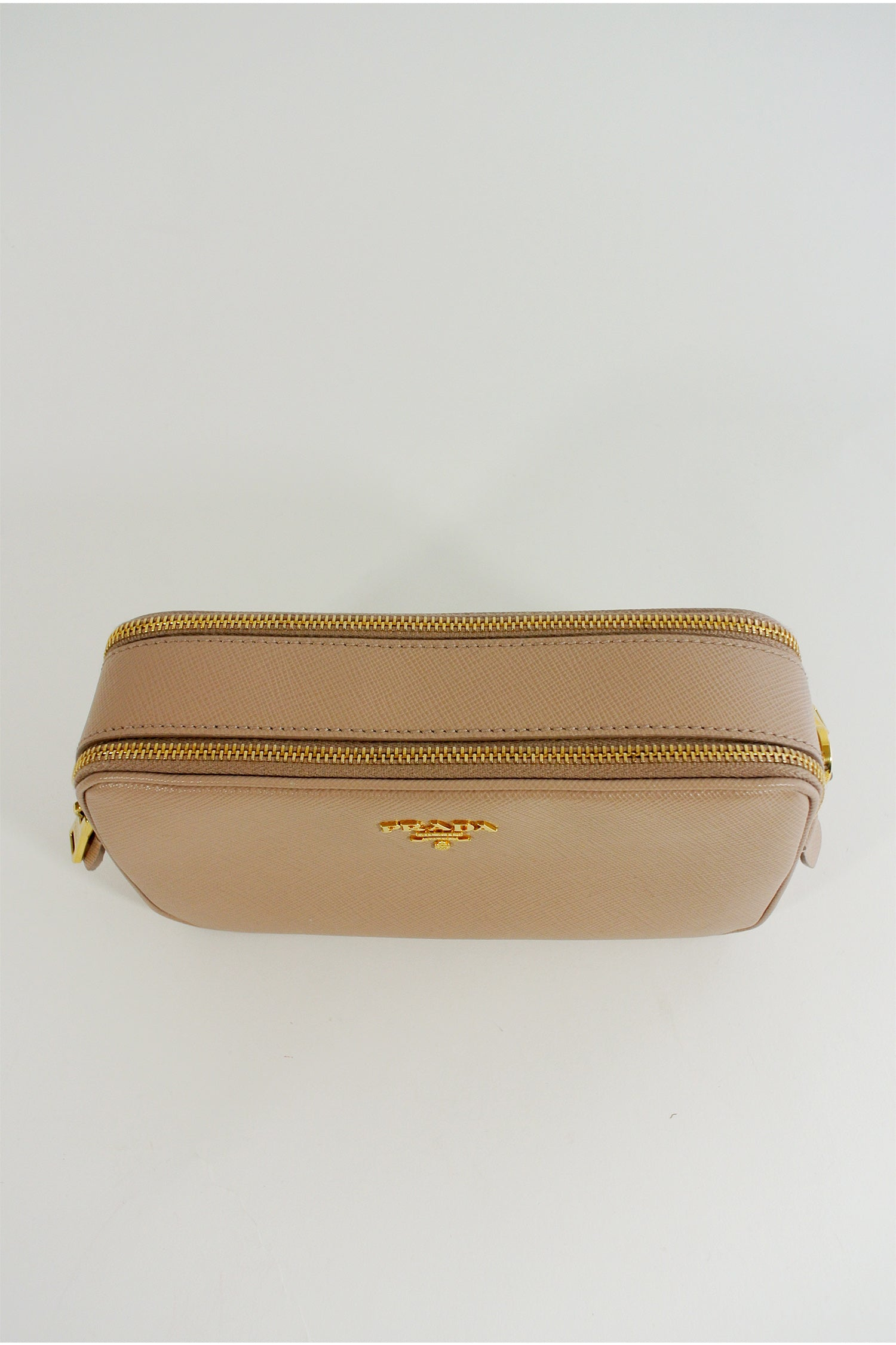 Prada Beige Camera Crossbody Bag